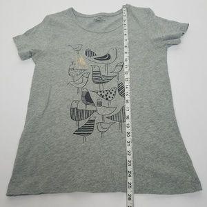 J. Crew Tops - J. Crew Birds Collector Tee gray graphic t-shirt S